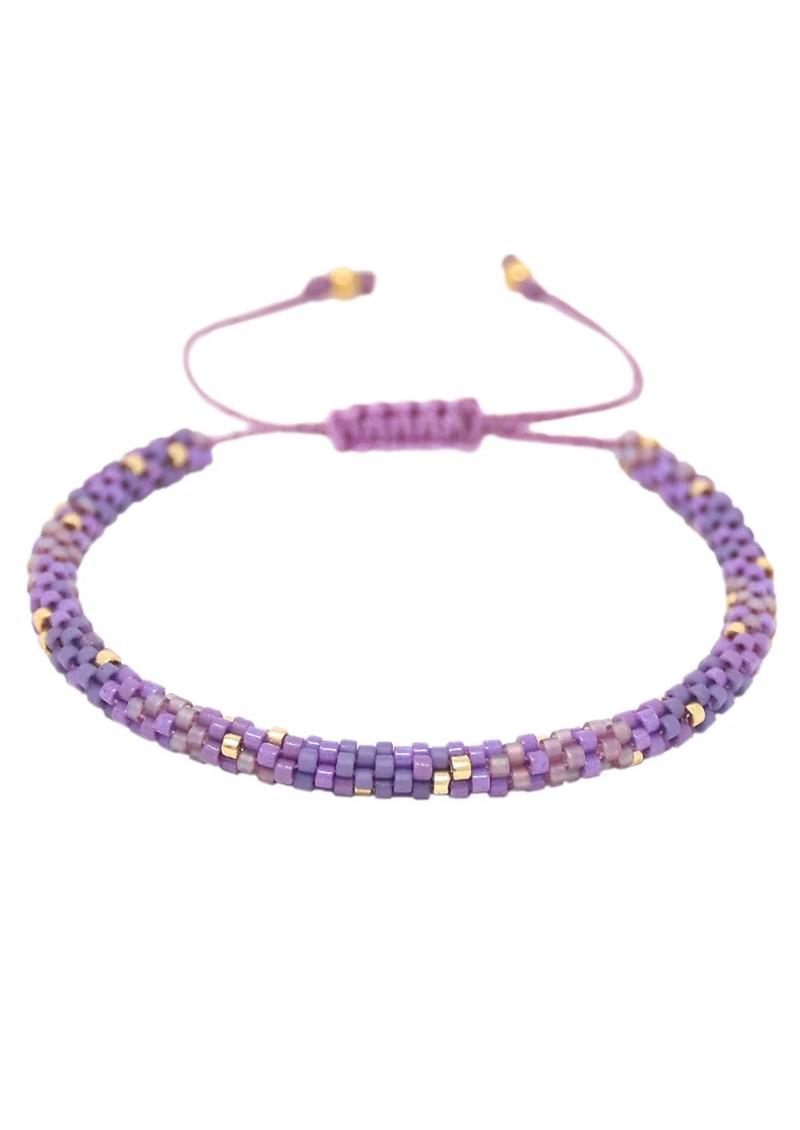 MISHKY Rainbow Hoopys Beaded Bracelet - Purple main image