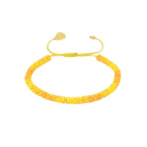 Rainbow Hoopys Beaded Bracelet - Yellow
