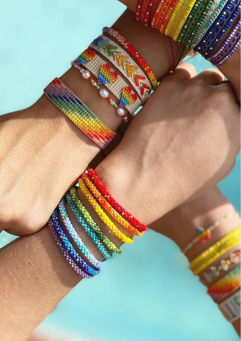 MISHKY Rainbow Hoopys Beaded Bracelet - Yellow main image