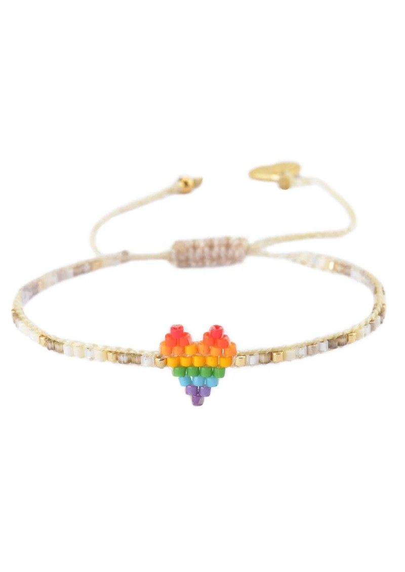 MISHKY Rainbow Heartsy Beaded Bracelet - Multi main image