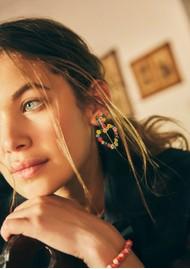 MISHKY Sublime Heart Beaded Earrings - Multi