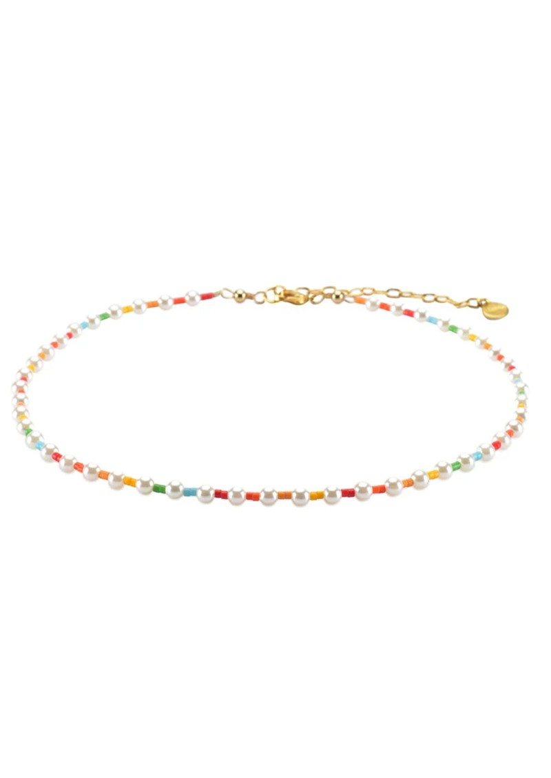 Rainbow Pearly Choker Necklace - Multi main image