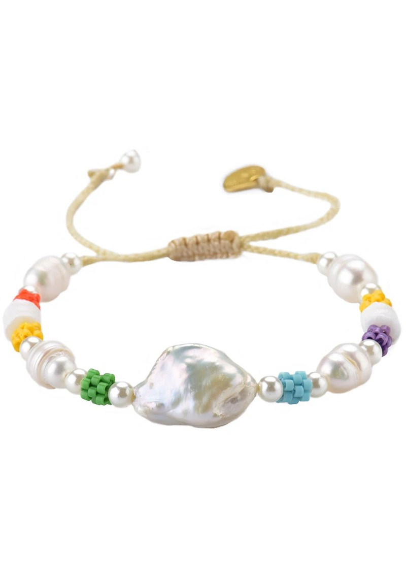 MISHKY Mallorca Pearl Beaded Bracelet - Multi main image