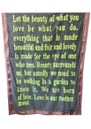 KARIEN BELLE Cotton Poetry Embroidered Scarf - Smoke Grey & Neon Yellow