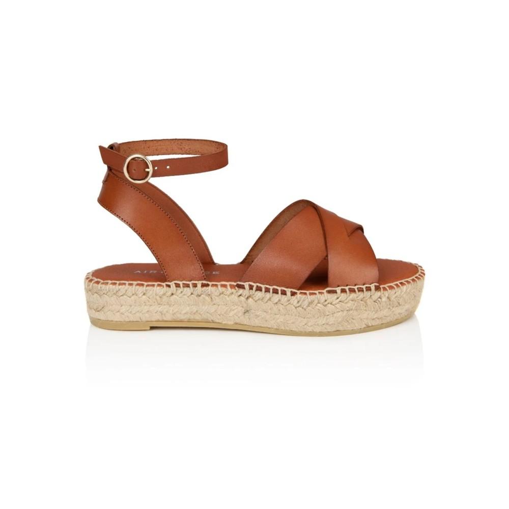 Nova Leather Espadrille Sandals - Tan