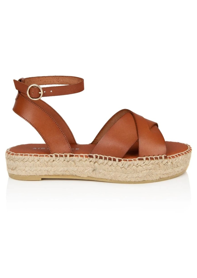 AIR & GRACE Nova Leather Espadrille Sandals - Tan main image