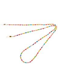 TALIS CHAINS Mini Rainbow Beaded Glasses Chain - Multi