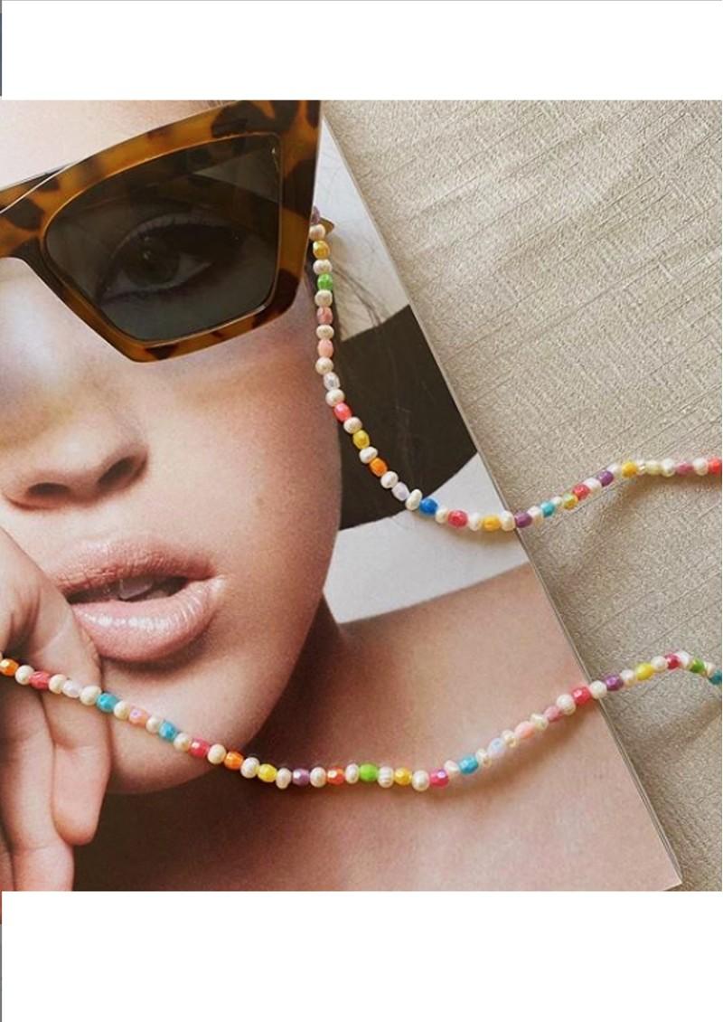 TALIS CHAINS Mini Rainbow Beaded Glasses Chain - Multi main image