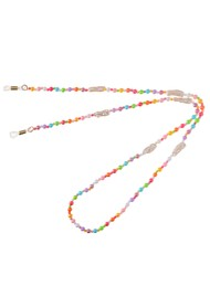 TALIS CHAINS Chasing Rainbow & Freshwater Pearl Beaded Glasses Chain - Multi