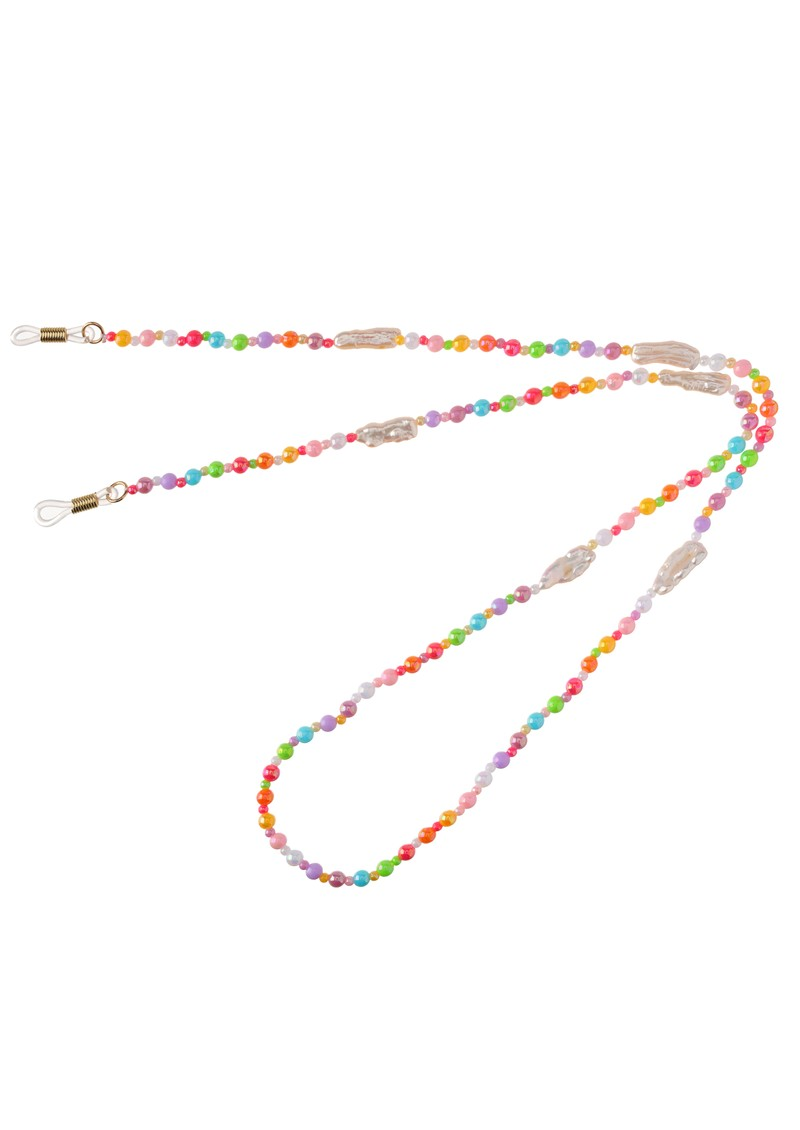 TALIS CHAINS Chasing Rainbow & Freshwater Pearl Beaded Glasses Chain - Multi main image