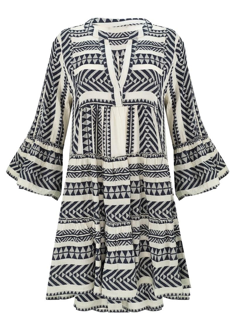 DEVOTION Ella Short Cotton Dress - Navy Blue main image