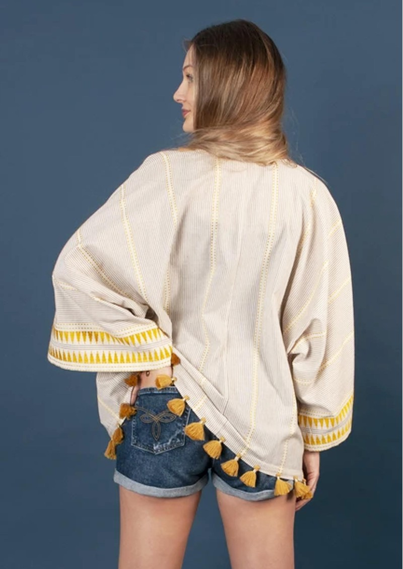 NOOKI Carrie Cotton Kimono - Yarn Dye main image