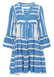 DEVOTION Ella Short Cotton Dress - Blue