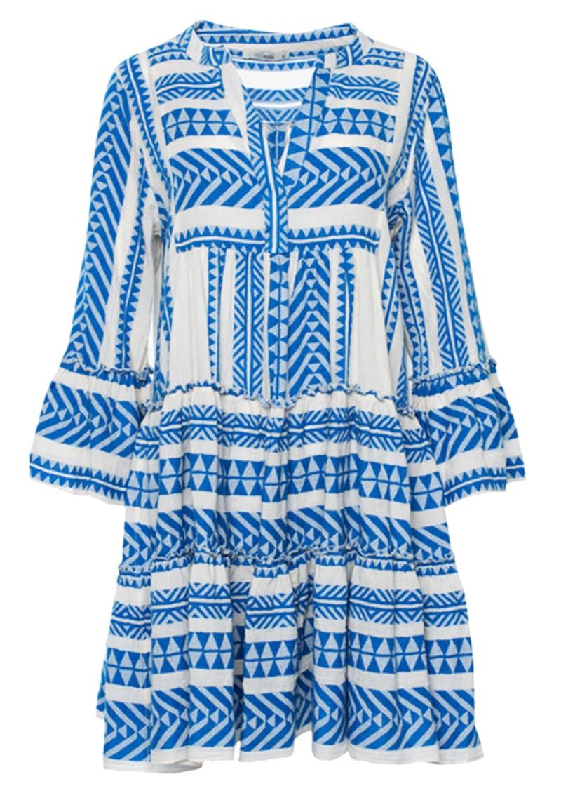 DEVOTION Ella Short Cotton Dress - Blue main image