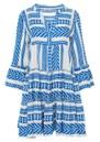 Ella Short Cotton Dress - Blue additional image