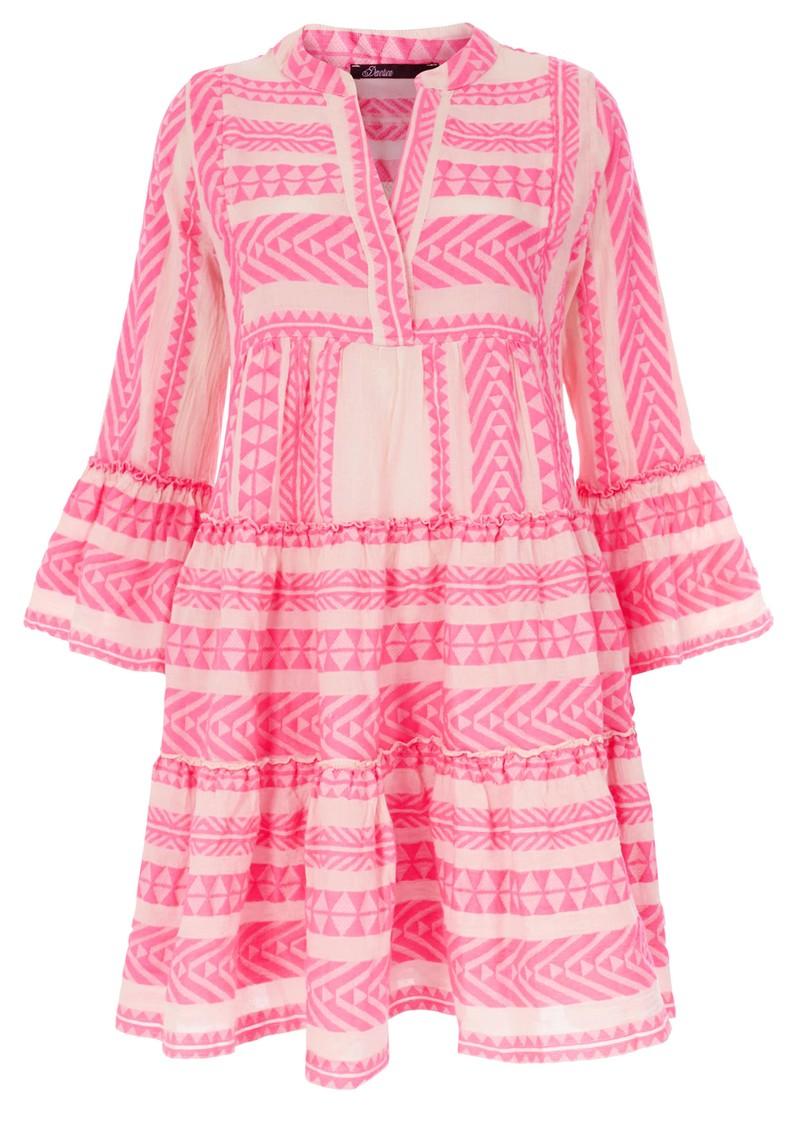 DEVOTION Ella Short Cotton Dress - Neon Pink main image