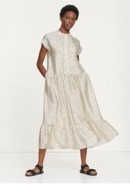 SAMSOE & SAMSOE Margo Long Printed Dress - Black Drops