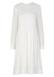 SAMSOE & SAMSOE Julia Long Sleeve Dress - Blanc De Blanc