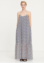 SAMSOE & SAMSOE Camo Long Maxi Dress - Blue