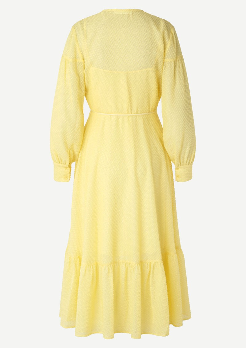SAMSOE & SAMSOE Tulip Wrap Dress - Pineapple Slice main image