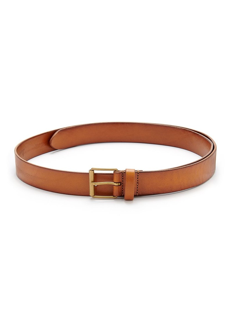 ANDERSONS Extra Long Square Buckle Leather Belt - Tan main image