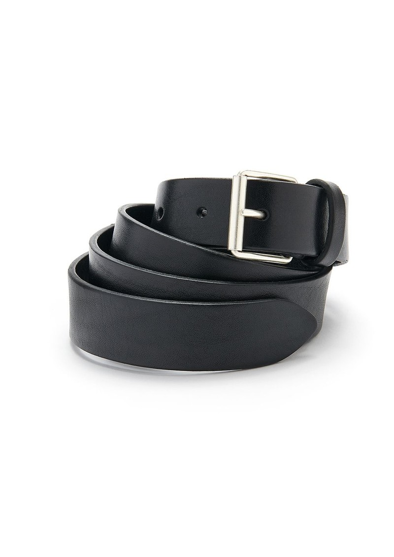 ANDERSONS Extra Long Square Buckle Leather Belt - Black main image