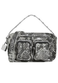 NUNOO Helena Small Leather Bag - Grey Snake