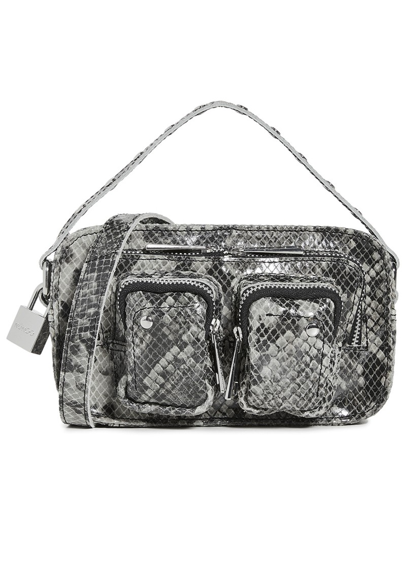 NUNOO Helena Small Leather Bag - Grey Snake main image