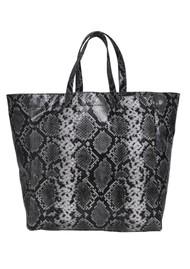 NUNOO Big Tote Snake Leather Bag - Grey