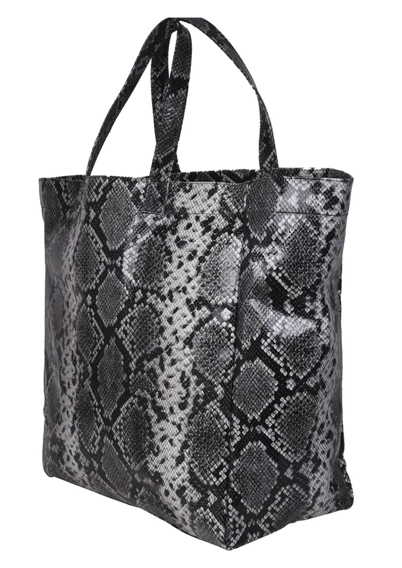 Big Tote Snake Leather Bag - Grey main image