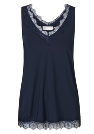Rosemunde Simple Lace Top - Dark Blue