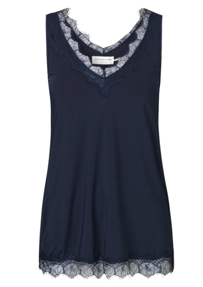 Simple Lace Top - Dark Blue main image
