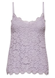 Rosemunde Lace Strap Cami Top - Iris Purple