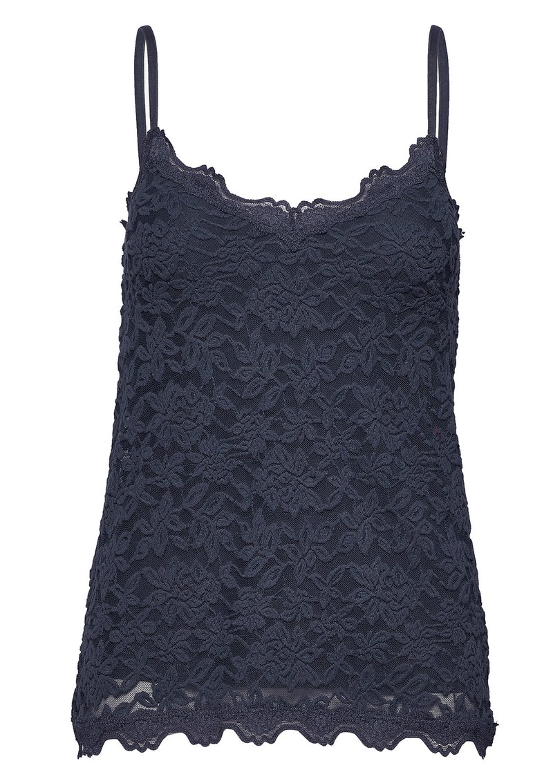 Lace Strap Cami Top - Navy main image