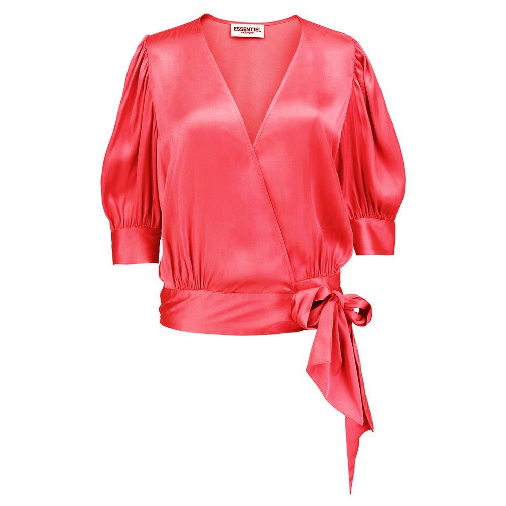Wham Wrap Top - Hot Pink