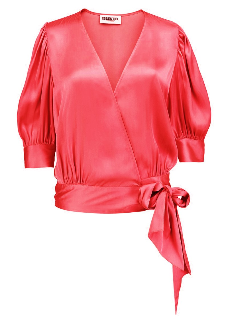 Wham Wrap Top - Hot Pink main image