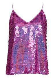 ESSENTIEL ANTWERP Wiggle Sequin Top - Rich Purple