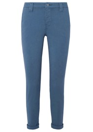 J Brand Paz Slim Tapered Luxe Sateen Trouser - Blue Rider