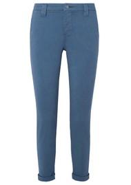 J Brand Paz Slim Tapered Luxe Sateen Trouser - Blue Rider