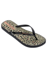 Ipanema Animal Print 23 Flip Flops - Black