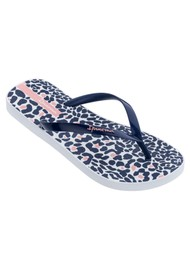 Ipanema Animal Print 23 Flip Flops - Navy