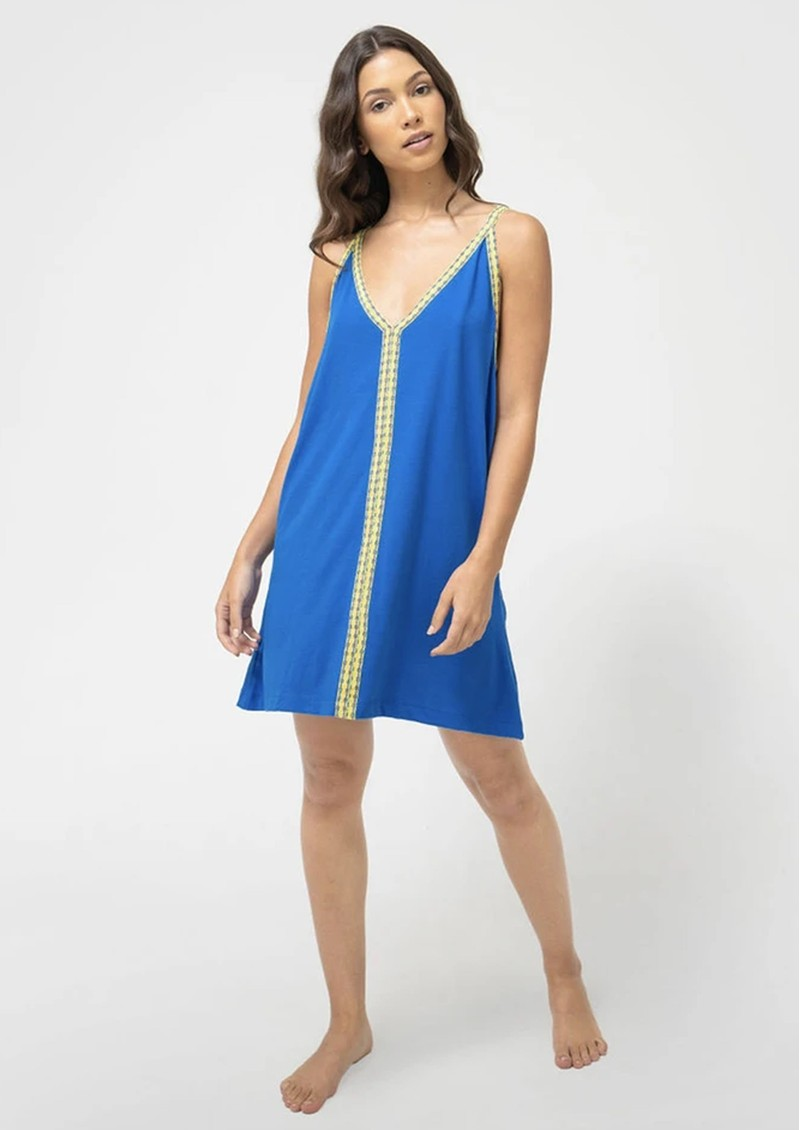PITUSA Solid Mini Sundress - Neon Blue main image