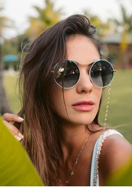 NEON HOPE Rope Sunglasses Chain - Rose Gold