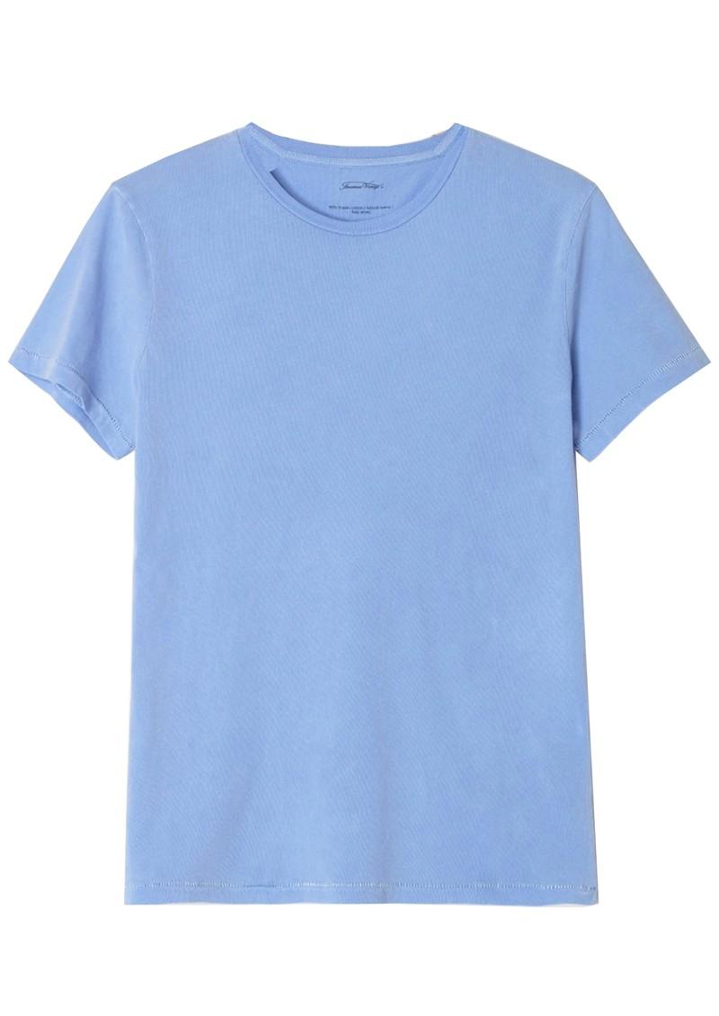 American Vintage Vegiflower Organic Cotton T-Shirt - Celestial main image