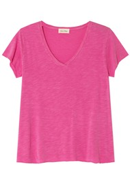 American Vintage Jacksonville Short Sleeve T-Shirt - Pinky Vintage