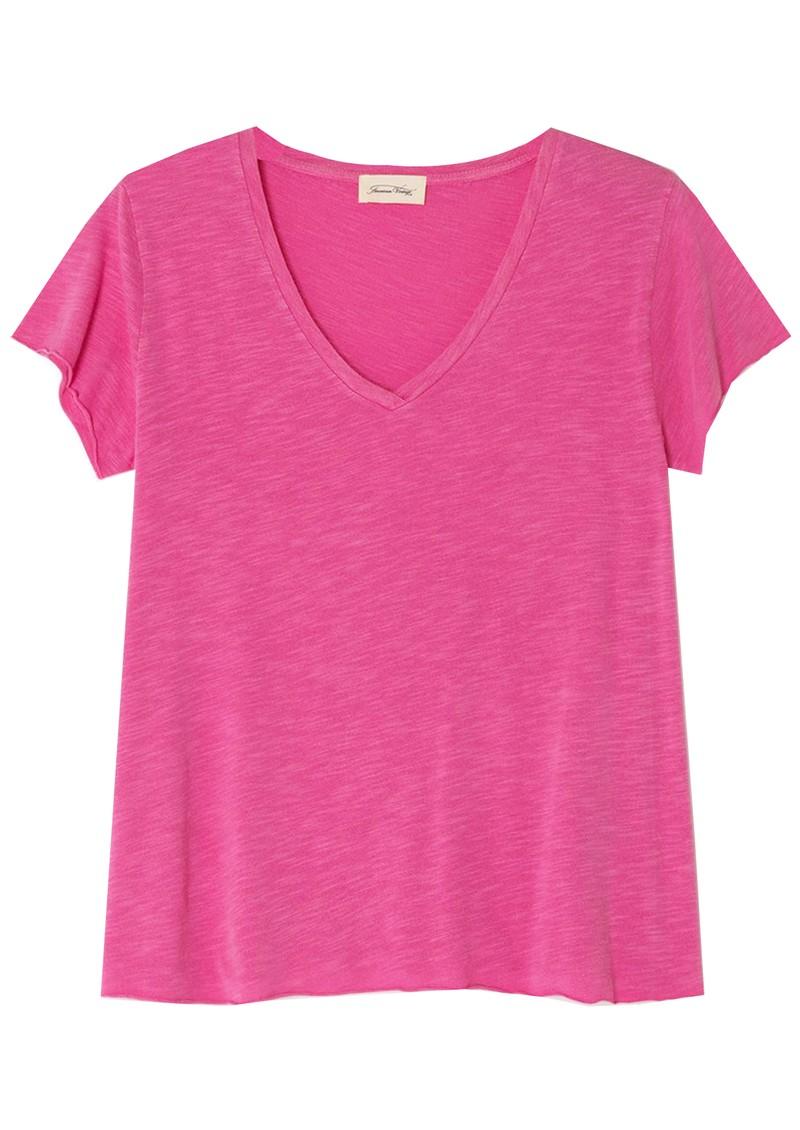 American Vintage Jacksonville Short Sleeve T-Shirt - Pinky Vintage main image