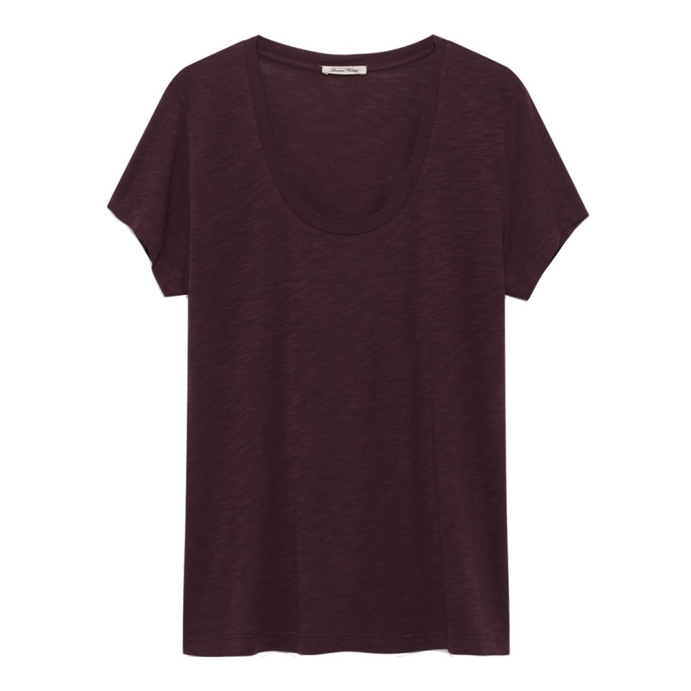 Jacksonville U Neck Short Sleeve T-Shirt - Morello Cherry