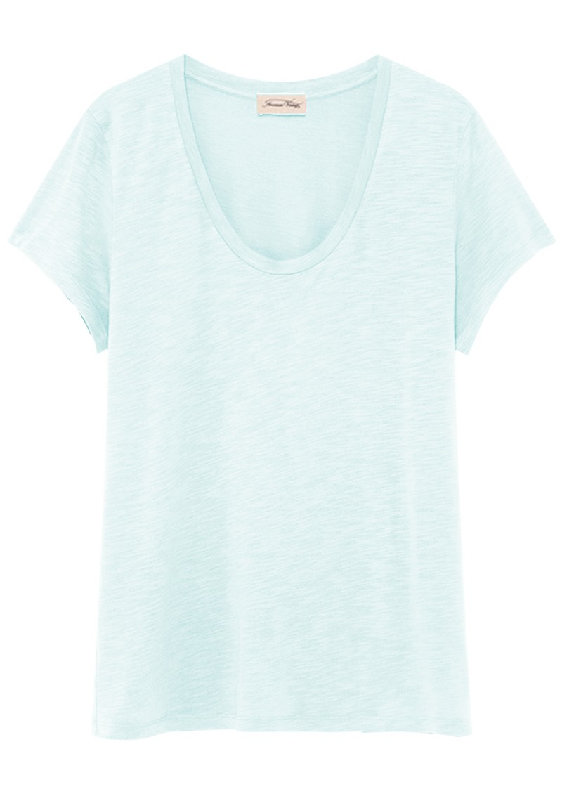 American Vintage Jacksonville U Neck Short Sleeve T-Shirt - Sugar Almond main image