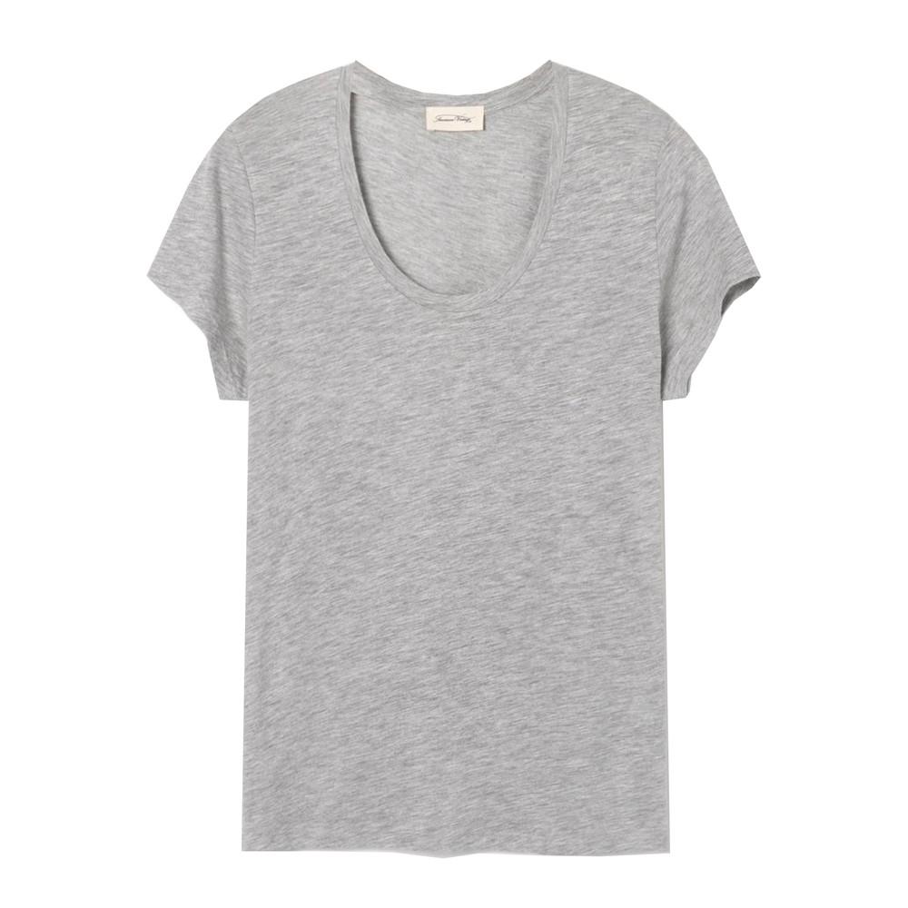 Jacksonville U Neck Short Sleeve Tee - Heather Grey Melange