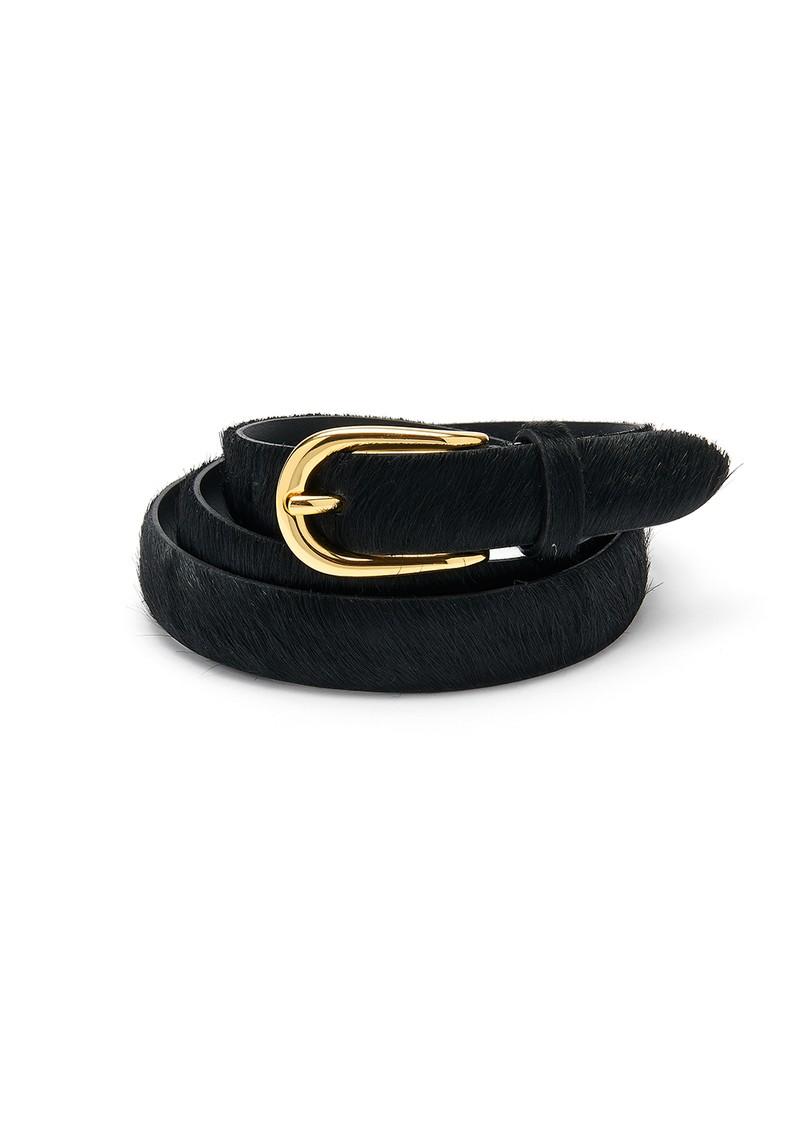 ANDERSONS Pony Hair Skinny Belt - Black main image